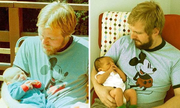 """ชมภาพ """"ลูก"""" กับ """"พ่อ"""" เปรียบเทียบในวัยเดียวกัน...แบบว่าเป๊ะอ่ะ!"""