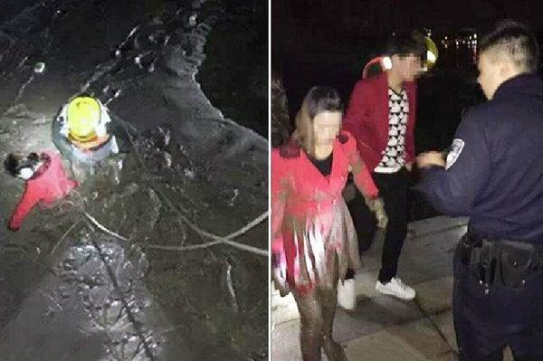 หนุ่มอึ้งแฟนเก่า-แฟนใหม่ แข่งกันโดดลงแม่น้ำ ตะโกนให้ลงมาช่วย วัดใจรักใครมากกว่า!