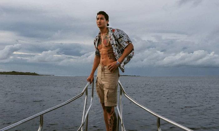 """เตรียมพบกับแฟชั่นชุดว่ายน้ำของ """"ไป่ ทาคน"""" นายแบบสุดฮอตจากเมียนมา"""