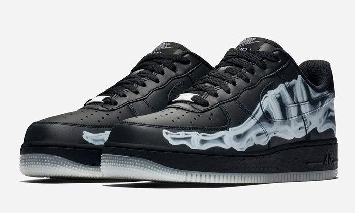 "Nike เตรียมปล่อย Air Force 1 ""Black Skeleton"" รับวันฮาโลวีน"