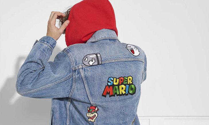 Levi's® X Super Mario โดดเด่นด้วยกราฟิกและสีสันสดใส