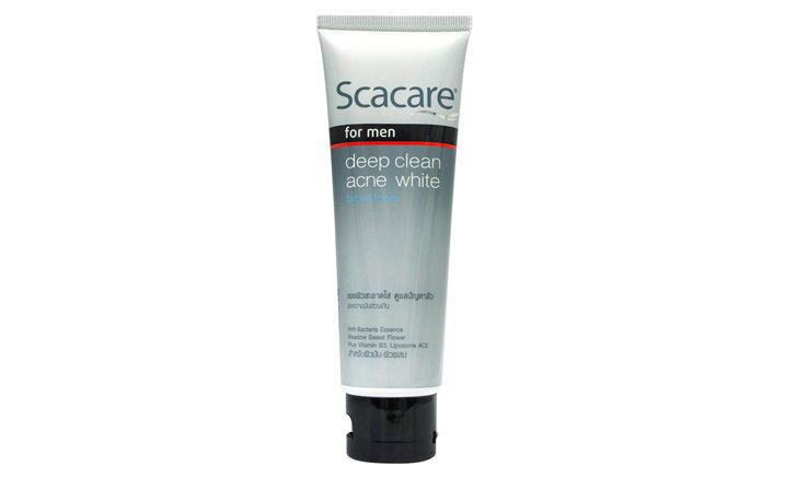 Scacare For Men Deep Clean Acne White Facial Foam