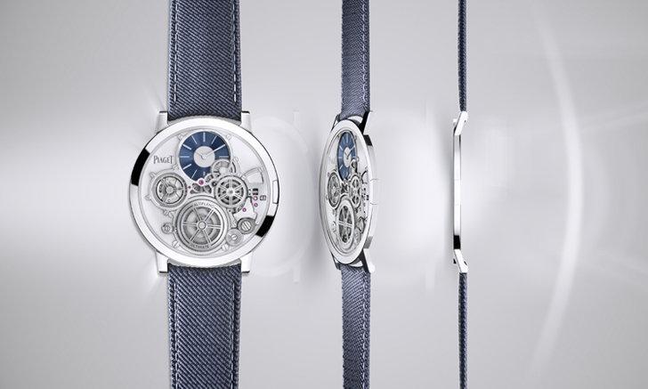 """นาฬิการะบบกลไกที่บางที่สุดในโลก """"เพียเจต์ อัลติพลาโน อัลติเมท คอนเซ็ปต์"""""""