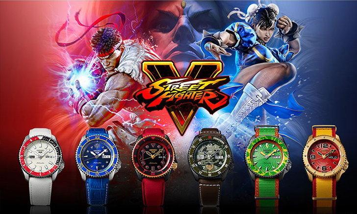 Seiko 5 Sports เผยคอลเลคชั่น Street Fighter แรงบันดาลใจจากตัวละครหลักในเกม