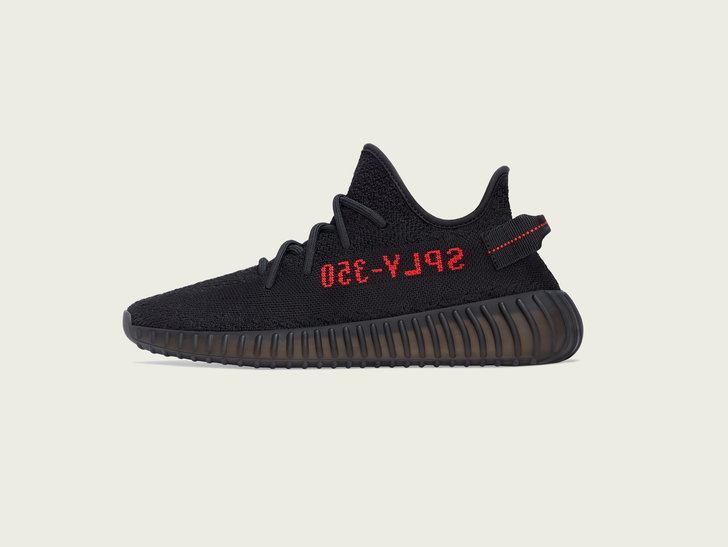 YEEZY BOOST 350 V2 CORE BLACK/ CORE BLACK/ RED