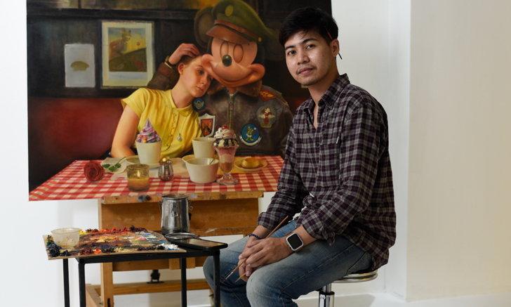 ไจโกะ ศิลปินชายข้ามเพศกับศิลปะสัจนิยม เล่าความเลวร้ายของสงครามผ่านมิกกี้เมาส์