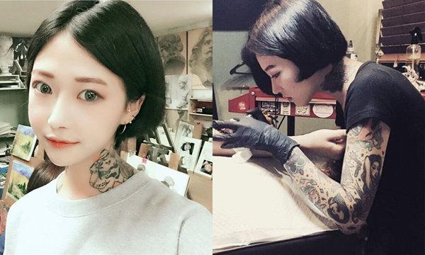 Lina Ahn ช่างสักสาวชาวเกาหลี สวยและน่ารักมาก