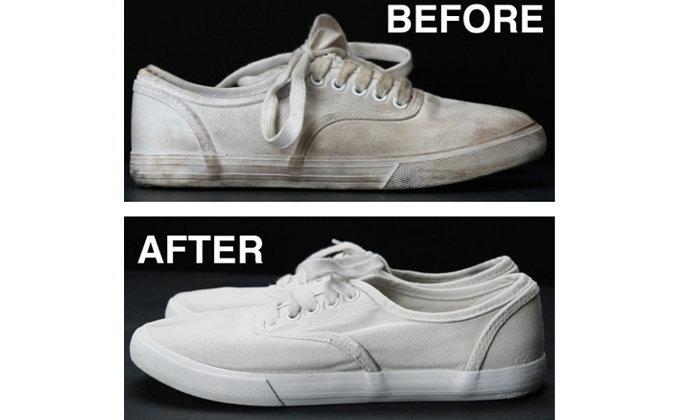 ไม่ต้องซัก! วิธีทำความสะอาดรองเท้าผ้าใบสีขาว ให้กลับมาใหม่อีกครั้ง