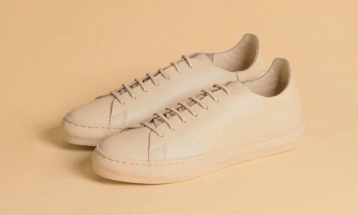รองเท้าสีผิวหนัง จากหนังวัว 100% Rompboy รุ่นล่าสุด