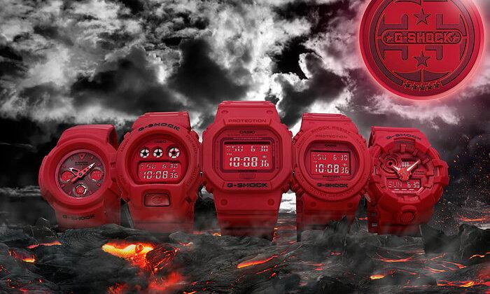 ฉลองครบรอบ 35 ปี G-SHOCK กับนาฬิกา RED OUT ทั้ง 5 แบบ