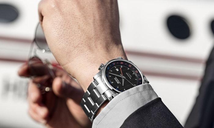Mido Multifort GMT นาฬิกาสำหรับหนุ่มนักเดินทาง บอกเวลาได้ 2 ไทม์โซน