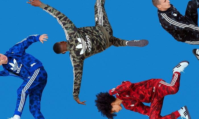 BAPE จับมือ adidas Originals ส่งเสื้อและแทร็คสูทลวดลาย Camouflage