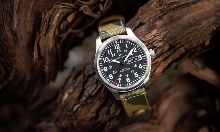 Hamilton เปิดตัวนาฬิกาสายเลือดทหารรุ่นล่าสุด Khaki Field Camouflage