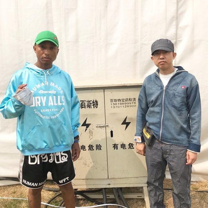 Pharrell Williams และ  Nigo