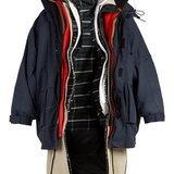 Balenciaga Oversized layered parka coat