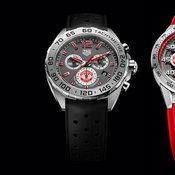 ด้านหน้าของนาฬิกาแมนเชสเตอร์ ยูไนเต็ด และ TAG Heuer