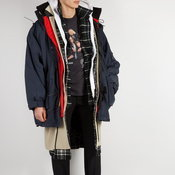 Balenciaga Oversized layered parka coat