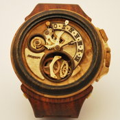 นาฬิกาทำจากไม้