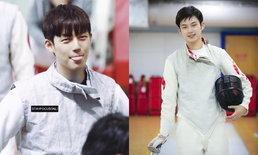 """เพ้อกันทั่วโซเชียลฯ """"ต่ง ต้าลี่"""" หนุ่มหล่อหน้าโอปป้า ดีกรีนักกีฬาฟันดาบทีมชาติจีน"""