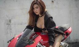 """""""เชอรี่ สามโคก"""" ขึ้นควบ Ducati ถ่ายแบบสุดหวิว"""