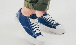 จับลายบ่อบัวมาใส่ในรองเท้า Indigoskin x Rompboy Project