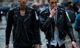 """20 ลุคแต่งกายด้วยแจ็คเก็ตหนังสีดำสไตล์ """"Biker"""" ตัวเดียวก็เท่แล้ว"""