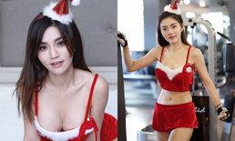 """เซ็กซี่อีกแล้ว """"เชอรี่ สามโคก"""" สวมชุดซานตี้ออกกำลังกาย"""