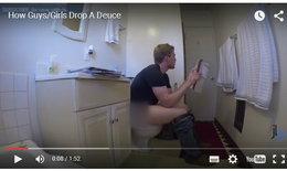 """ส่องพฤติกรรม """"ผู้ชาย-ผู้หญิง"""" ตอนเข้าห้องน้ำ"""