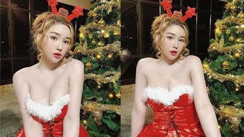 """""""นุ๊กซี่ อัญพัชญ์"""" แปลงกายเป็นซานตี้ ส่งความสุขให้แฟนคลับ"""