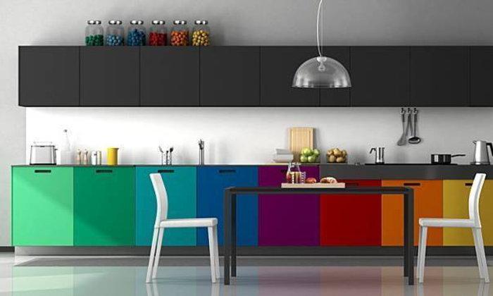 เเชร์ 20 ไอเดียเเต่งห้องครัวสีเเสบๆเด่นสะดุดตา