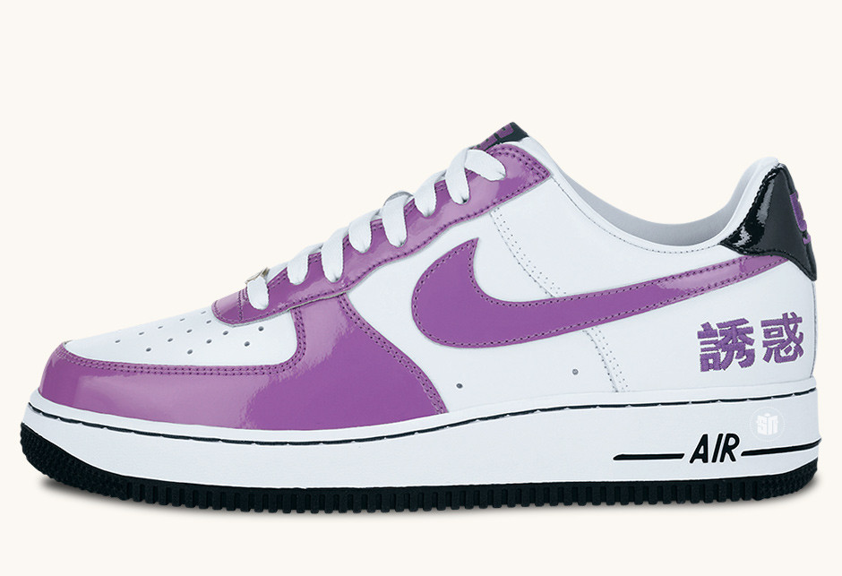 "competitive price 350fd 716a6 ... Nike Air Force 1 Chamber Of Fear ""Temptation"". Color White Hyacinth- Black ..."