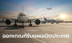 กพท. ออกประกาศเกณฑ์สายการบินเข้าไทย รับนักท่องเที่ยวตามแผนเปิดประเทศ 1 พ.ย. นี้
