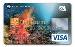 บัตรเครดิตเคทีซี Diving Visa Platinum