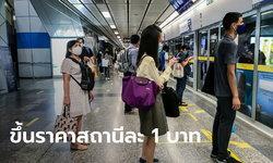 ดีเดย์ 1 ม.ค. 64! รถไฟฟ้า MRT สายสีน้ำเงิน ปรับราคาขึ้น 1 บาท