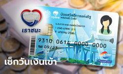 เราชนะ โอน 7,000 บาท เข้าบัตรสวัสดิการแห่งรัฐ บัตรคนจน วันไหนบ้าง?