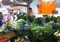 แม่ค้าเผยราคาผักหลายชนิดปรับลดลงต่อเนื่อง