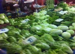 วันนี้ผักสดหลายรายการราคาปรับลง