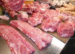 ราคาสินค้าวันนี้ทรงตัวเนื้อหมู150-155บาท/กก.