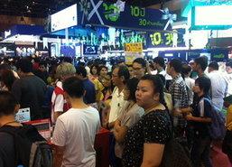 ปชช.ชมงานThailand Mobile Expo2014บ่ายแน่น