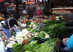 ตลาดห้วยขวางราคาสินค้าคงที่เนื้อหมู135-155บ./กก.