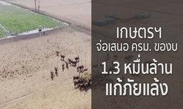 เกษตรฯ จ่อเสนอ ครม. ของบ 1.3 หมื่นล้าน แก้ภัยแล้ง