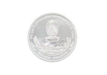 เหรียญที่ระลึก 100 ปีจุฬาฯ หลัง