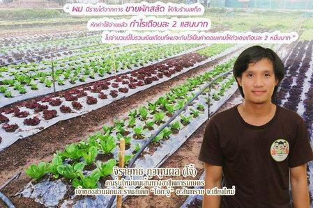 เกษตรกรคนรุ่นใหม่ ขายผักขำๆ กำไรเดือนละ 2 แสน