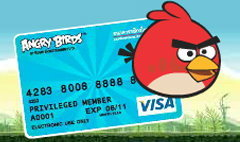 Angry Birds เกมส์สุดฮิต สู่ลายบัตรเดบิตสุดเจ๋ง