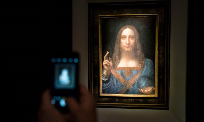 ภาพเขียนสุดท้าย 'เลโอนาร์โด ดา วินชี' ใช้เวลาเพียง 20 นาที ปิดประมูลได้เงินเกือบ 1.5 หมื่นลบ.