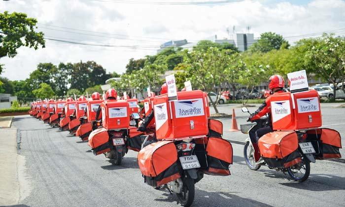 """""""ไปรษณีย์ไทย"""" จัดทัพสู้ Grab Bike รองรับกลุ่มอีคอมเมิร์ซ"""