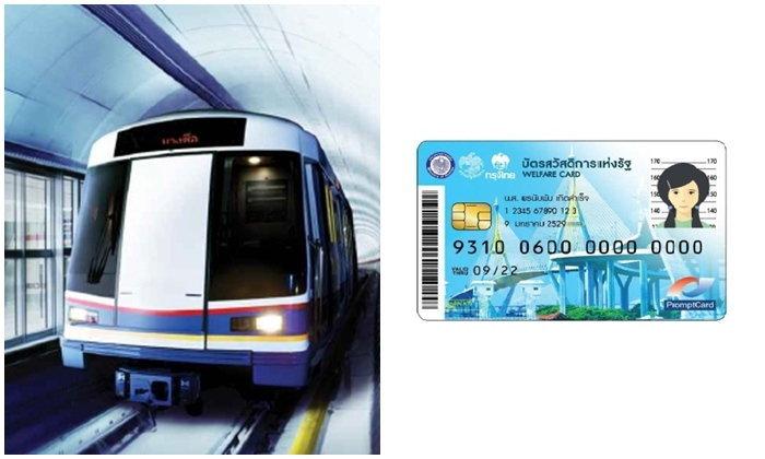 ยอดบัตรคนจนลงทะเบียนขอใช้ MRT ฟรีวันแรก 1,887 คน