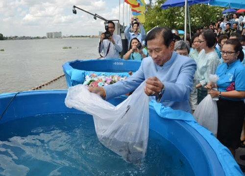 พณ.ปล่อยปลา8.3แสนตัว ถวายเป็นพระราชกุศล