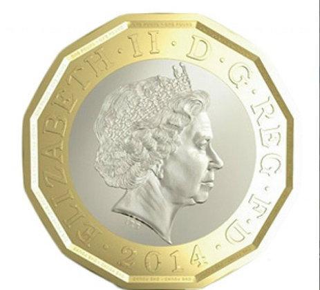 """อังกฤษผุด """"เหรียญปอนด์"""" ใหม่ ปลอดภัยเทียบเท่าธนบัตร"""