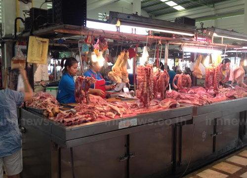 วันนี้ราคาสินค้าทรงตัวเนื้อหมู150-155 บ./กก.